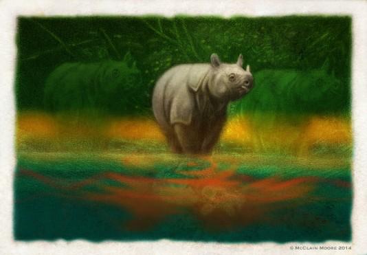 Endangered Javan Rhino