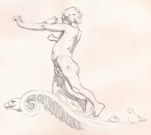 Columbus Circle Sketch